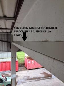 difesa di un manufatto in cemento dai volatili